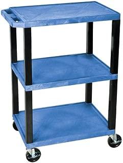 H WILSON WT34BUS Tuffy Utility Cart, Blue