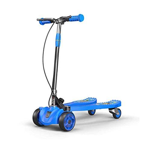 XUNMAIFXI La Seguridad Patinete abatible de 3 Ruedas Plegable Patinete Speeder Scooters Push Drifting, con Altura Ajustable, Ruedas Intermitentes para Edades de 3-8 Regalo