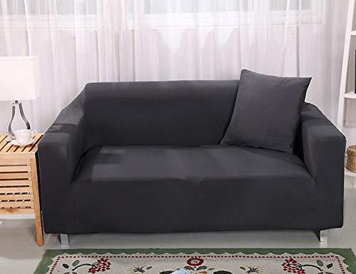 Resistente al Polvo elástica Funda de sofá Gris oscuro 3 plazas, funda de sofá elástica para sala de estar Funda de sofá elástica, funda de sofá Protector de muebles Four Seasons 190-230cm 1 PCS