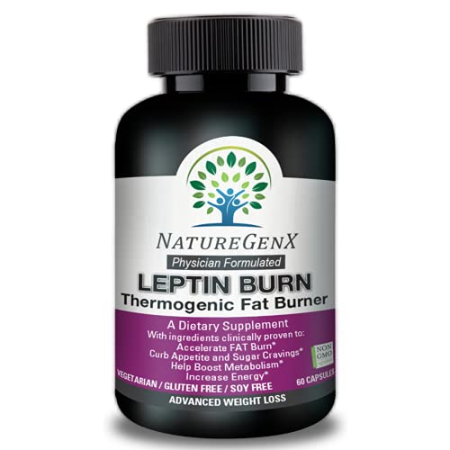 pure leptin supplements NatureGenX – Leptin Fat Burner – Doctor Formulated Thermogenic Fat Burner, Clinically Proven – Leptin Supplement for Weight Loss for Women and Men, Appetite Control, Metabolism Boost, Non-GMO 60 Pills