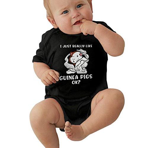 90ioup I Just Really Like India Pigs Ok Grenouillère à manches courtes pour bébé garçon fille - Blanc - 2 ans