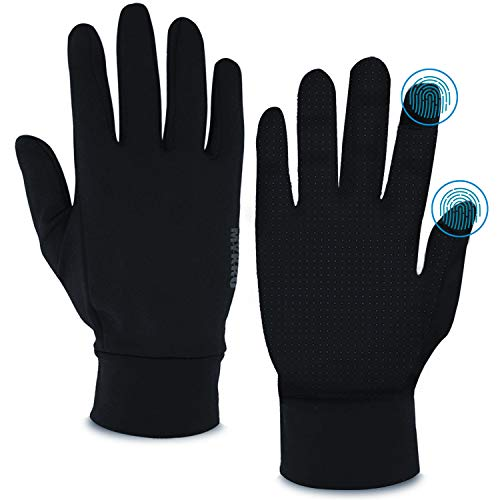 MYKRO All-Purpose Gloves | Treated with SILVADUR Antimicrobial Technology | Eco-Friendly, Ambidextrous, Unisex | Comfortable & Durable for Everyday Wear | Light Fleece Lining | Machine Washable