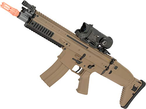 Evike FN Herstal Licensed Scar-L Airsoft Polymer AEG Rifle by Cybergun (Color: Desert)