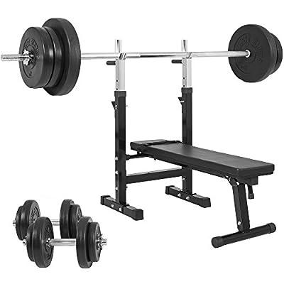 Gorilla Sports Weight Bench with 70KG Vinyl Weight Set from Gorilla Sports