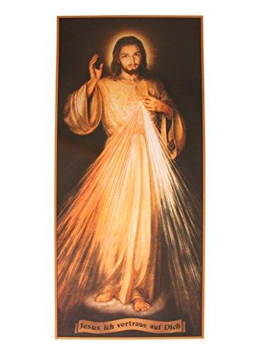MaMeMi Poster Barmherziger Jesu'' mit Schriftzug * 22 x 48 cm