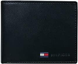 Tommy Hilfiger Genuine Leather Slim Bifold Wallet with Coin Pocket