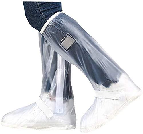 hengguang VenVont Cubrezapatillas Impermeables para Botas De Lluvia Cubrezapatos Plegables Reutilizables Antideslizantes con Reflector Y Cremallera para Mujeres Y Hombres XL