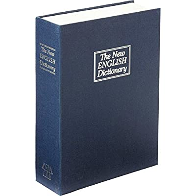 Large The New English Dictionary Faux Book - Diversion Metal Safe with Lock and Two Keys from 2PO