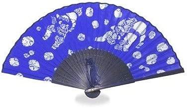 シーサー・青 ブルー 「シルク」シーサー柄で縁起物