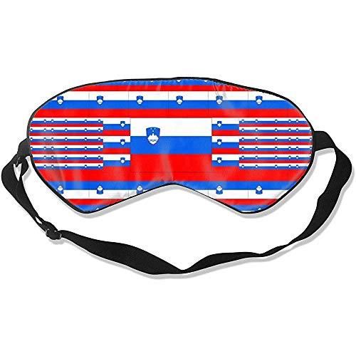 Slaapmasker, Sloveense vlag, super gladde oogbinding, om thuis te slapen
