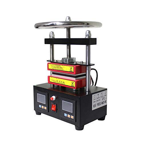 QWERTOUY Pression réglable Rosin Presse de Double Chauffage Plaques d'huile Manuel extracteur de Chaleur Rosin Machine de Presse