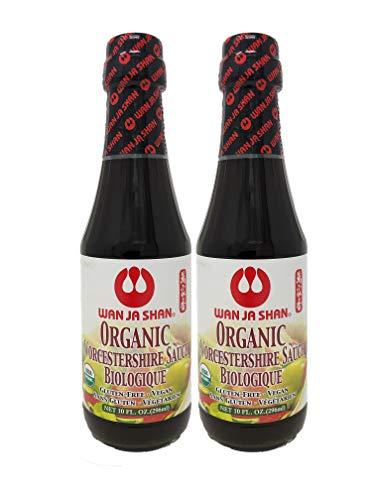 WanJaShan Organic Gluten Free Worcestershire Sauce - Seasoning, Dressing, Marinading 10 oz (Pack of 2)