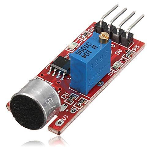 ZTSHBK Hochempfindliches Schallmikrofon-Sensor-Erkennungsmodul Mikrofonsender Smart Robot Car für Arduino AVR PIC