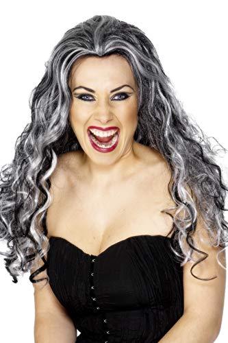 Smiffys dames Renaissance Vampir pruik, grijs-zwart, één maat, 29243