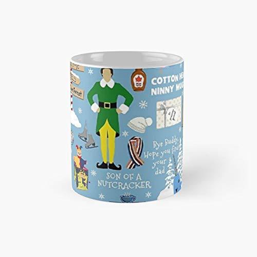 Buddy The Elf Collage Taza clásica   El mejor regalo divertidas tazas de café de 11 oz