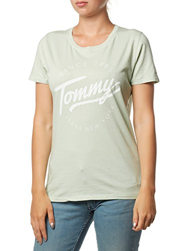 Tommy Hilfiger T-Shirt Camiseta, Verde (Aqua Foam 385), XX-Small para Mujer