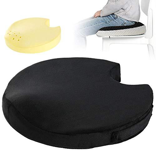 Preisvergleich Produktbild shewt Everlasting Comfort Memory Foam Sitzkissen,  Beauty Hüftkissen,  Stuhlkissen für die Schmerzlinderung bei Rückenschmerzen,  Home / Office / Auto,  Black Mesh / Wildleder