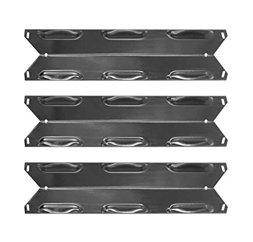 Hongso 14 7/8 Inch Porcelain Steel Gas Grill Heat Shield, Heat Tent, Burner Cover Replacement for Kenmore 146.23678310 146.23679310 640-05057371-6 640-05057373-6, 3-Pack (PPF231) Grill Heat Plates
