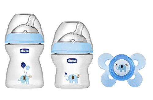 Chicco NaturalFeeling Set Regalo Biberon per Bambino, Azzurro
