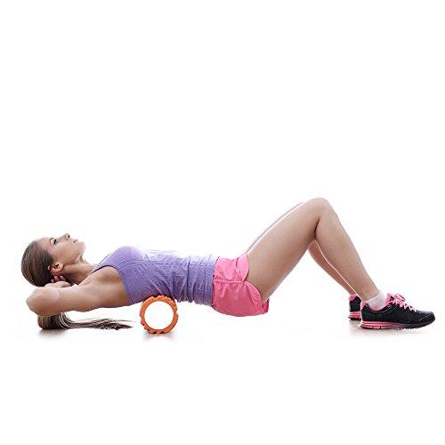 TRIGGER POINT Schaumstoffrolle mit Gitter für Massage Yoga Pilates REHAB CROSSFIT THERAPIE PRO-TONE® Rolle durch BODYCORE Fitness® (SCHWARZ) - 4