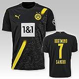 PUMA BVB Auswärtstrikot Erwachsen Saison 2020/21, Größe:L, Spielername:7 Sancho