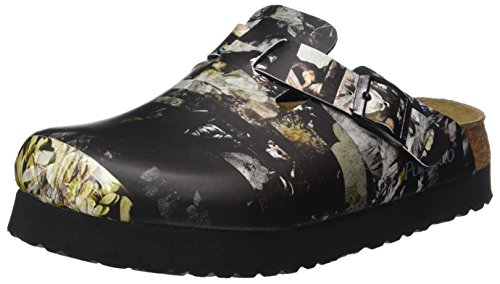 Papillio 1007104 Boston Birko-Flor, Damen  Clogs, Mehrfarbig (Golden Age Black Plateau), 37 EU (4.5 UK)