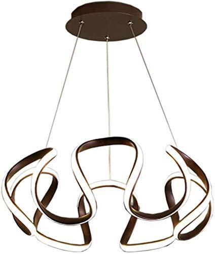 Moderne led-hanglamp, aluminium, 76 watt, plafondlamp, strakke eenvoudige hanglamp, woonkamer, café-zwart wit licht