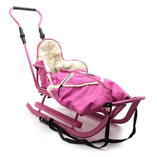 Babyschlitten Kinderschlitten Schlitten Piccolino Set (Pink)