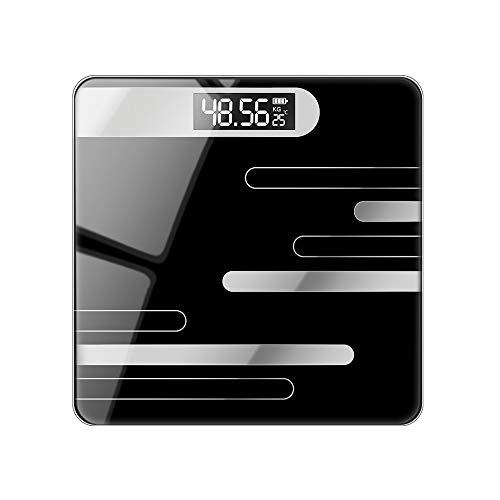 Körperfettwaage Select Zone Smart Digitale Waage Personenwaage mit LED-Display USB-Aufladung | Bis 180 kg (Linie schwarzer Batterietyp)