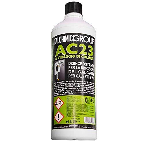 Disincrostante AC23 per Cassette WC Incasso Geberit ed Esterne per la Rimozione del Calcare - flacone da 1 litro
