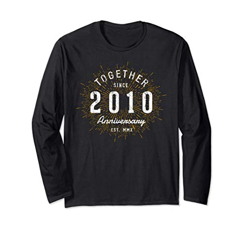 Together Since 2010 Vintage 10th Anniversary Long Sleeve T-Shirt