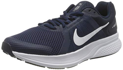 Nike Herren Run Swift 2 Running Shoe, Midnight Navy/White-Obsidian, 42.5 EU