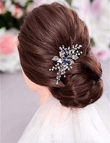 Cathercing, ghirlanda di fiori artificiali in stile bohémien, con perle e strass, accessorio per capelli per giardino, matrimoni, feste di fine anno