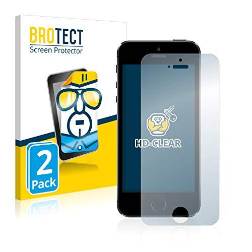 brotect Pellicola Protettiva Compatibile con iPhone 5   5S   5C   SE 2016 Pellicola Trasparente (2 Pezzi) Anti-Impronte