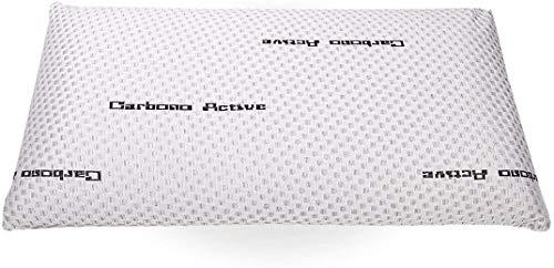 elalmacendelcolchon Almohada Viscoelástica Modelo Carbono Perforada,Máxima Adaptabilidad, Blanca - 70 cm - Otras Medidas Disponibles