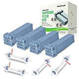 [2020 Upgraded] Premium Cartridge Filter Kit Compatible with So Clean 2, ReibyHealth 8pcs Filter Replacement Includes 4 Cartridge Filters and 4 Check Valves