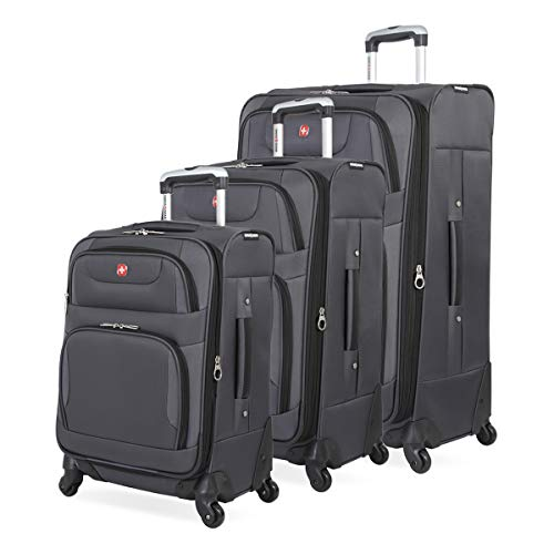 SWISSGEAR 7297 3 Piece Luggage Set Color: Gray/Black