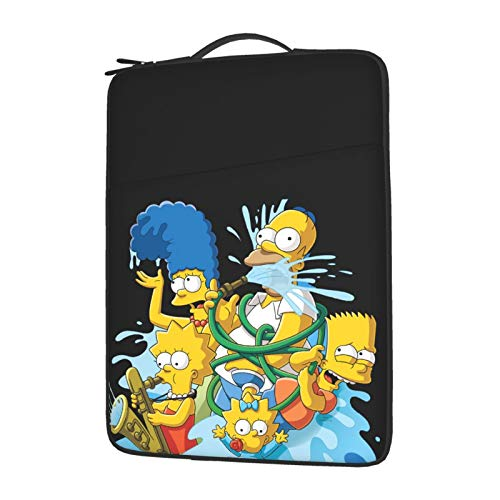 The Simpsons Laptop Sleeve Case Notebook Computer Slim Computer Carry Bag Waterproof Protective Cover with Pock 14 Inch