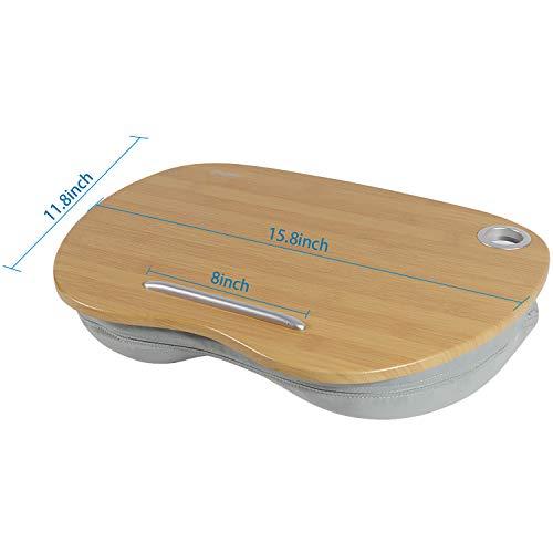 VLOXO Tragbare Laptopkissen Knietablett Kissen mit Kabelloch & Anti-Rutsch Streifen bis zu 14 Zoll für Notebook MacBook Tablet MEHRWEG