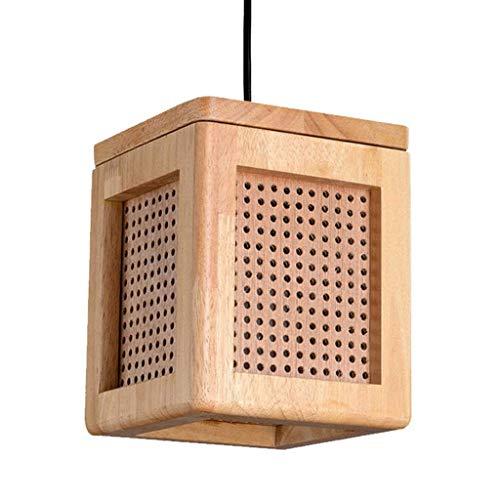 Hölzerne Würfellampe Rundes Lochnetz Stilvolles Akzent Tisch Schreibtisch Spa Lampen für Zuhause, Schlafzimmer, Wohnzimmer, Nachtlicht am Bett, Büro, Empfangsbereich, Restaurants, Kunstgaler