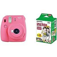 Fujifilm Instax Mini 9 - Cámara instantánea, Cámara con 2x10 películas, Rosa