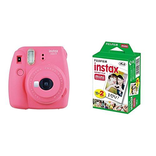 Fujifilm Instax Mini 9 , Rosa + 4 paquetes de películas fotográficas instantáneas (10 hojas)