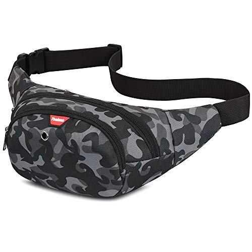 Yooluan Waterproof Bum Waist Bag 3 Zip Pockets Travel Hiking Outdoor Sport Bum Bag Holiday...