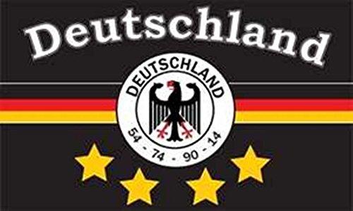 FRIP - verzending Duitsland 4 sterren zwart - zwart-rood-geel FAN 1,50 x 0,90 m vlag vlaggen met 2 ogen