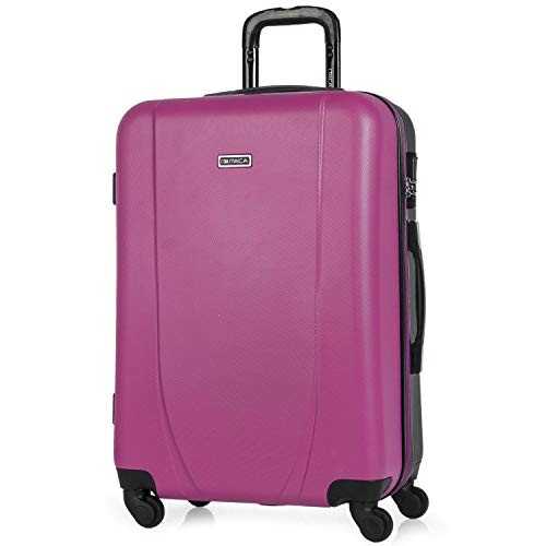 ITACA - 71160 TROLLEY ABS BICOLOR, Color Fucsia-Antracita