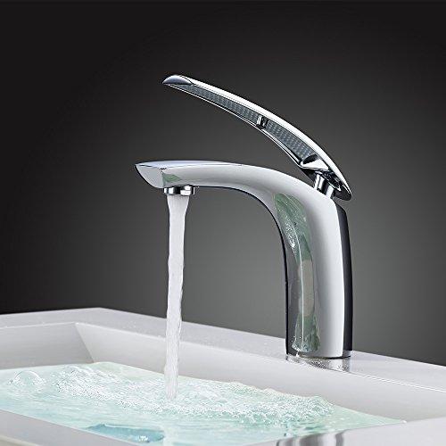 HOMELODY Grifo lavabo Cobre Grifo del Baño Monomando Lavabo Grifo del Lavabo Grifo de la Cuenca Grifería Lavabo Grifería Baño