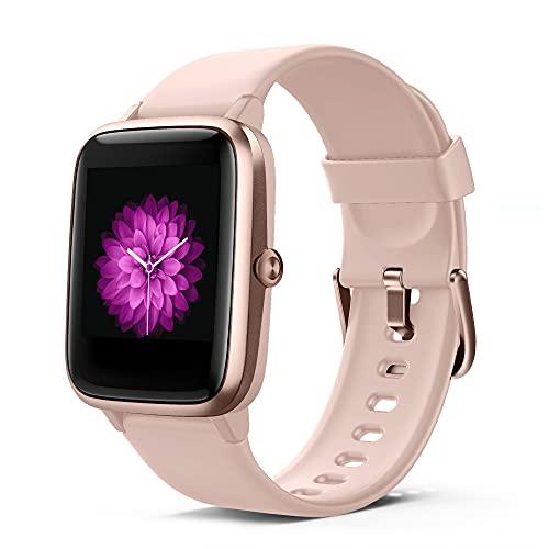 Smartwatch Mujer Mide la Frecuencia Cardíaca Monitoreo del Sueño Relojes Inteligentes Mujer Femenino 9 Modos Rastreador de Ejercicios a Prueba de Agua Compatible con Teléfonos Reloj Inteligente Mujer