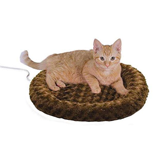 K&H Manufacturing Thermo-Kitty Heated Pet Bed, Mocha, 4W