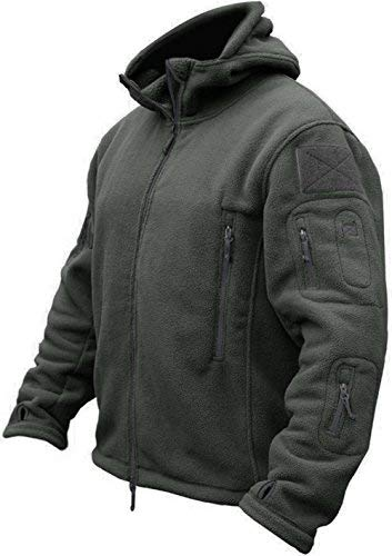 TACVASEN Warm US Military Men's Fleece Jacket Zip Hoodies Snow Ski Coat...