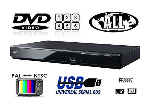パナソニック Panasonic DVD-S500 リージョンフリーDVDプレーヤー(PAL/NTSC対応) プレミアム海外仕様